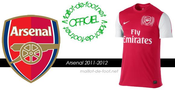 maillot arsenal 2012